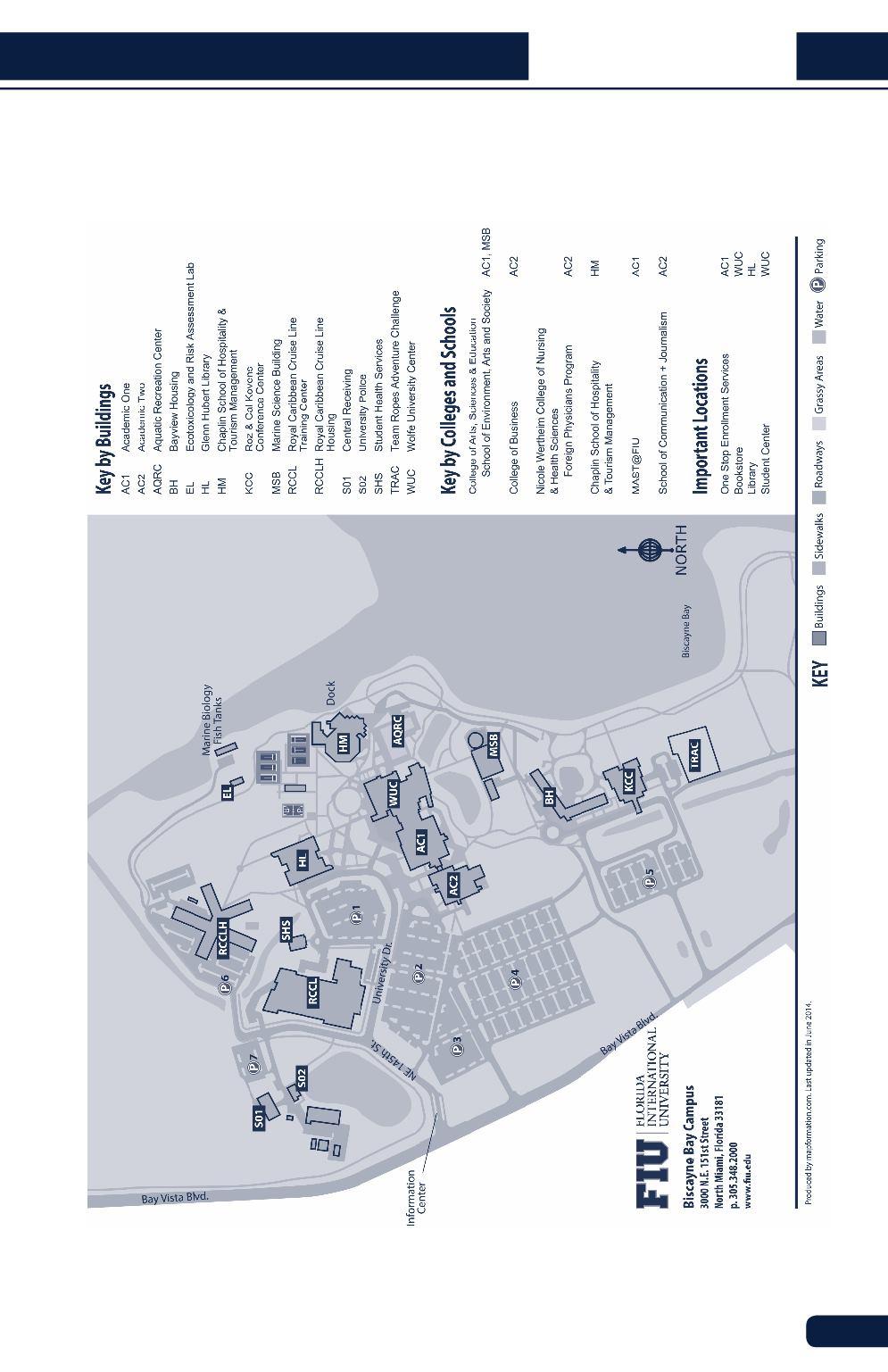 Biscayne Bay Campus Map.Flu Student Handbook 2017 2018
