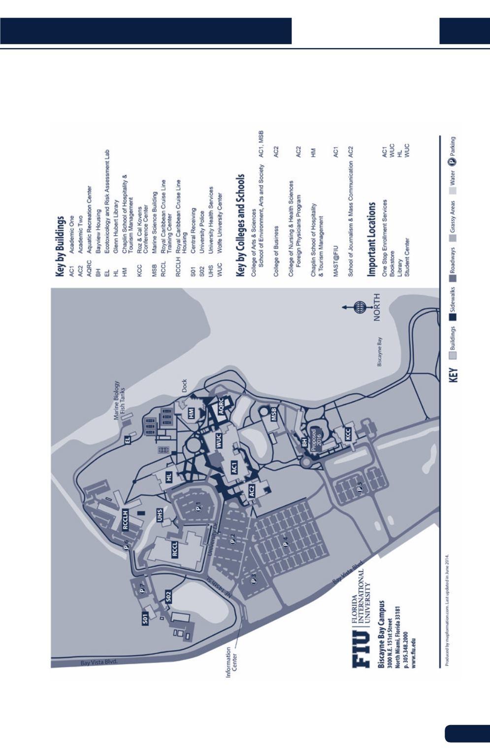Biscayne Bay Campus Map.Flu Student Handbook 2016 2017